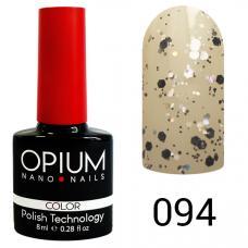 Гель-лак OPIUM №94 (Платиновые капли), 8 мл