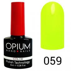 Гель-лак OPIUM №59 (Кислотно желтый), 8 мл