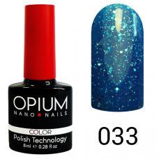 Гель-лак OPIUM №33 (темно синий с блестками), 8 мл