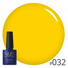Гель-лак NUB № 032 (насыщенный желтый)
