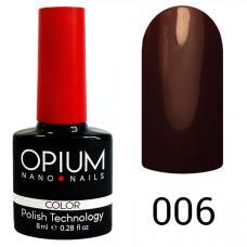 Гель-лак OPIUM №6 (горький шоколад), 8 мл