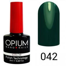 Гель-лак OPIUM №42 (темный изумруд), 8 мл