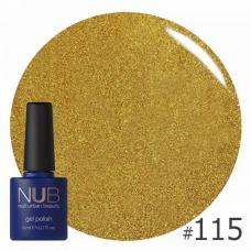 Гель-лак NUB № 115 (желтое золото, с блестками и слюдой)
