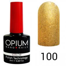 Гель-лак OPIUM №100 (Жидкое золото), 8 мл