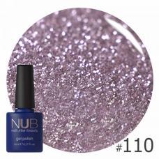 Гель-лак NUB № 110 (фиалковое серебро, с блестками и слюдой)