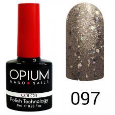 Гель-лак OPIUM №97 (Платина с шимером), 8 мл