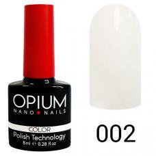 Гель-лак OPIUM №2 (бело-молочный), 8 мл