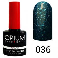Гель-лак OPIUM №36 (светло синий с блестками), 8 мл