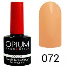 Гель-лак OPIUM №72 (Персиковый), 8 мл