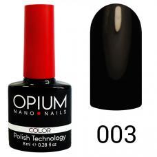Гель-лак OPIUM №3 (черный), 8 мл