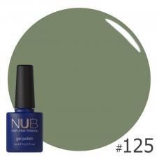Гель-лак NUB № 125 (оливково-зеленый)
