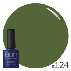 Гель-лак NUB № 124 (темный оливковый)