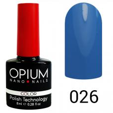 Гель-лак OPIUM №26 (синий-голубой), 8 мл