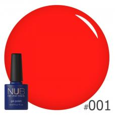 Гель-лак NUB № 001 (неоновый коралл)