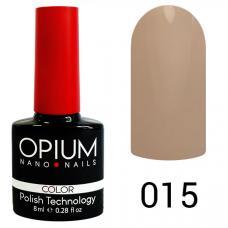 Гель-лак OPIUM №15 (молочно беж), 8 мл