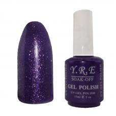 Гель лак YRE № 167 (темно синий с фиолетовой блесткой), 15 мл