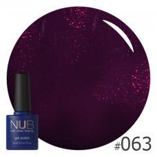 Гель-лак NUB № 063 (бордово-фиолетовый)