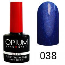 Гель-лак OPIUM №38 (темно синий с мелким песком), 8 мл