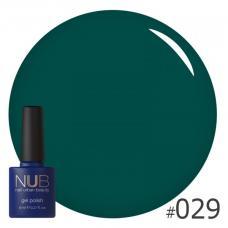 Гель-лак NUB № 029 (зеленый)