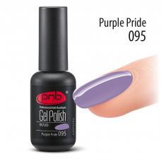 Гель лак PNB №095 (пастельный фиолетовый, эмаль)