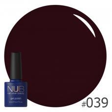 Гель-лак NUB № 039 (темно-бордовый)