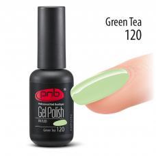 Гель лак PNB №120 (пастельный бледно-зеленый, эмаль)