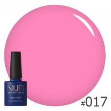 Гель-лак NUB № 017 (яркий розовый)
