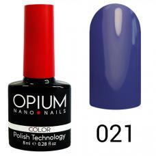 Гель-лак OPIUM №21 (темная васильковый), 8 мл