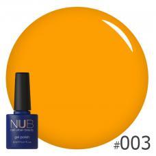 Гель-лак NUB № 003 (апельсиновый)