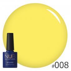 Гель-лак NUB № 008 (лимонный)
