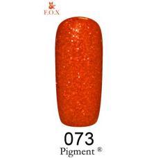 Гель лак F.O.X № 073 (красный с красными блестками)