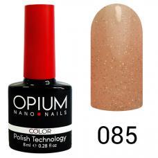 Гель-лак OPIUM №85 (Телесный с песком), 8 мл