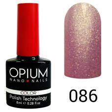 Гель-лак OPIUM №86 (Нежно фиолетовый с песком), 8 мл