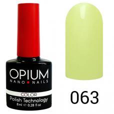 Гель-лак OPIUM №63 (Нежно зеленый), 8 мл