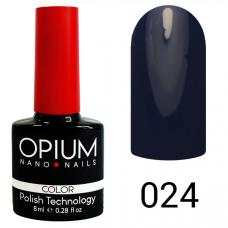 Гель-лак OPIUM №24 (темно синий пепел), 8 мл