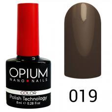 Гель-лак OPIUM №19 (Светло коричневый), 8 мл