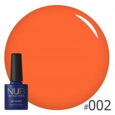 Гель-лак NUB № 002 (оранжево-коралловый)