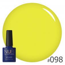 Гель-лак NUB № 098 (лимонно-лаймовый)