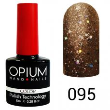 Гель-лак OPIUM №95 (Красное золото с шимером), 8 мл