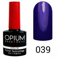 Гель-лак OPIUM №39 (синя-фиолет с шимером), 8 мл