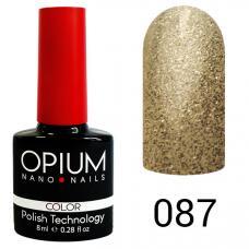 Гель-лак OPIUM №87 (брызги шампанского), 8 мл