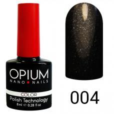 Гель-лак OPIUM №4 (черный шимер), 8 мл