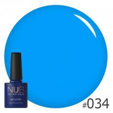 Гель-лак NUB № 034 (классический синий)