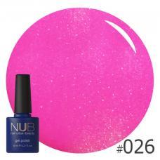Гель-лак NUB № 026 (розовая фуксия)