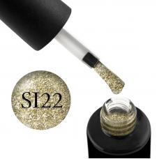 Гель-лак Naomi Self Illuminated SI 22 (золотой, с блестками и слюдой), 6 мл