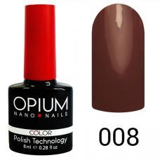 Гель-лак OPIUM №8 (дымчатый шоколад), 8 мл