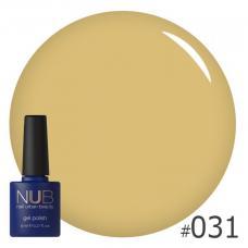 Гель-лак NUB № 031 (молочный желтый)