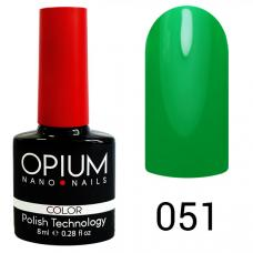 Гель-лак OPIUM №51 (насыщенно зеленный), 8 мл