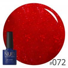 Гель-лак NUB № 072 (малиново-красный)