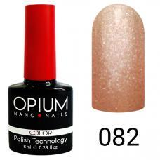 Гель-лак OPIUM №82 (Розовый с песком), 8 мл
